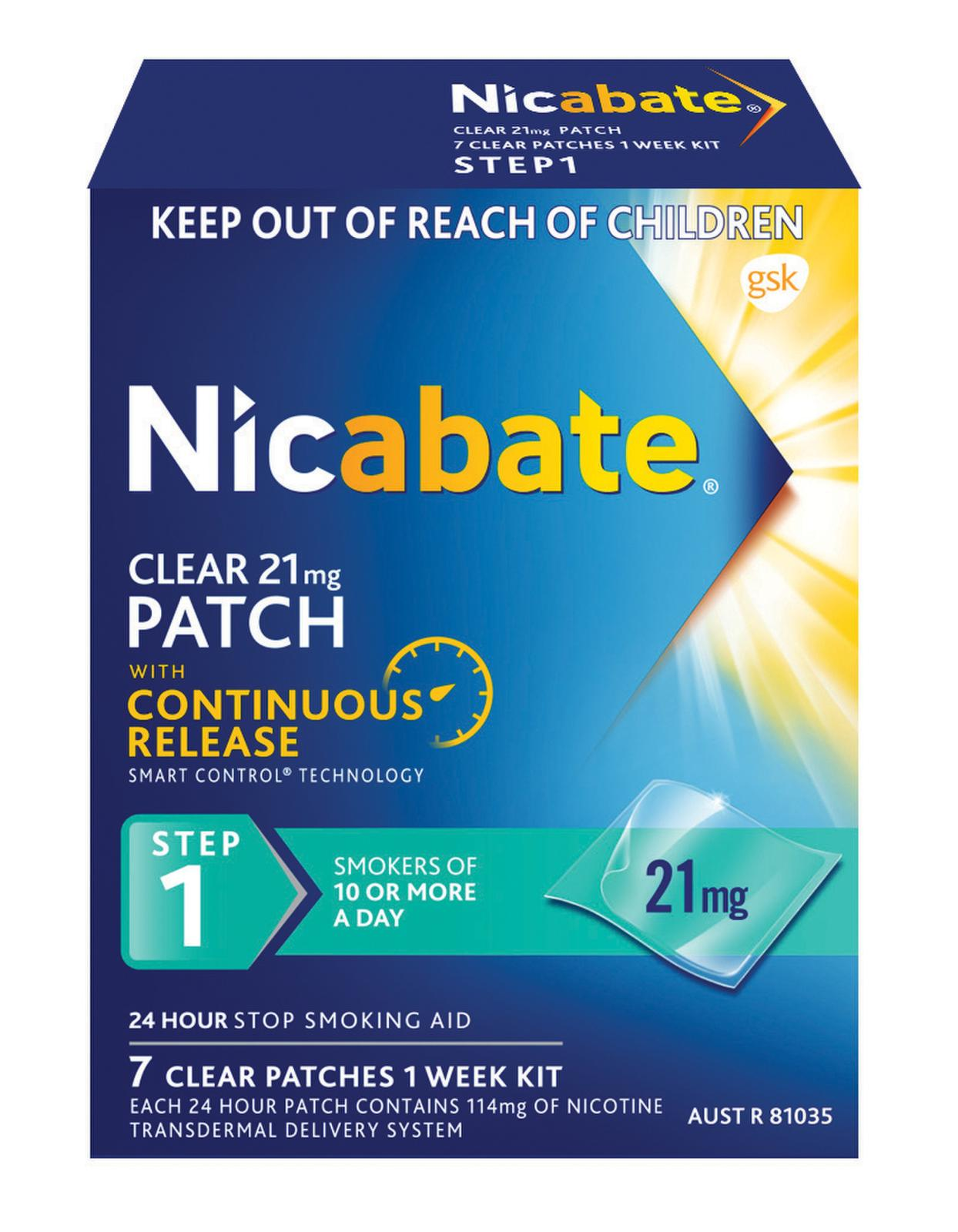 Nicabate CQ Clear 14mg 7 Patches - Your Discount Chemist